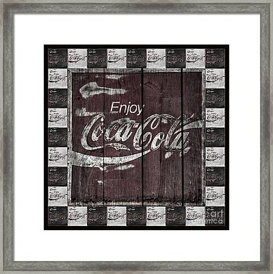 Antique Coca Cola Signs Framed Print by John Stephens
