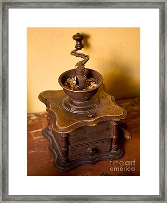 Antique Coffee Grinder Framed Print