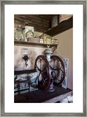 Antique Coffee Mill Framed Print