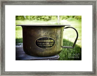 Antique Copper Potty Framed Print by Les Palenik