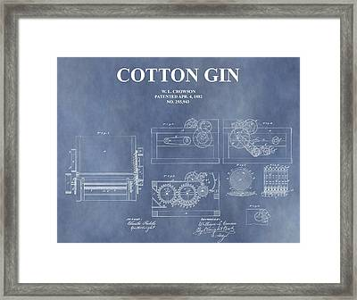 Antique Cotton Gin Patent Framed Print by Dan Sproul