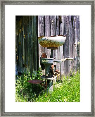 Framed Print featuring the photograph Antique Cream Separator by Sherman Perry