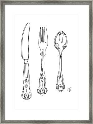 Antique Cutlery Trio Framed Print