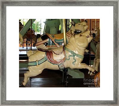 Antique Dentzel Menagerie Carousel Pigs Framed Print