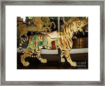 Antique Dentzel Menagerie Carousel Tiger Framed Print
