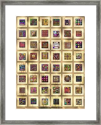 Antique Digitalia  Framed Print by Ann Stretton