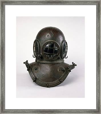 Antique Diving Helmet Framed Print