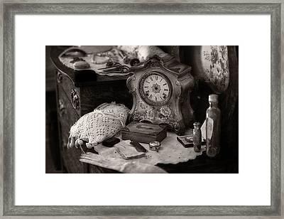 Antique Dresser I Framed Print by Maria Angelica Maira
