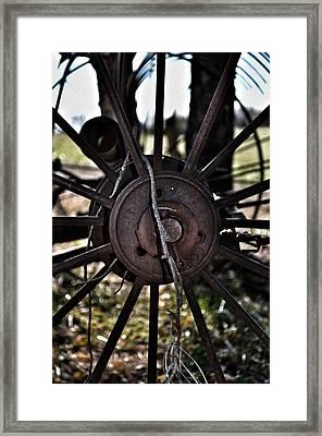 Antique Farm Equipment Framed Print by Branden Simons