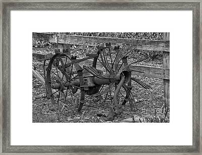 Antique Farm Equipment Framed Print by JRP Photography