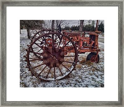 Antique Farmall Tractor Framed Print