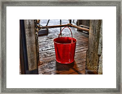 Antique Fire Bucket Framed Print