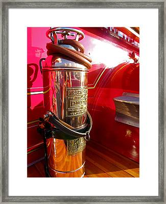 Antique Fire Extinguisher Framed Print