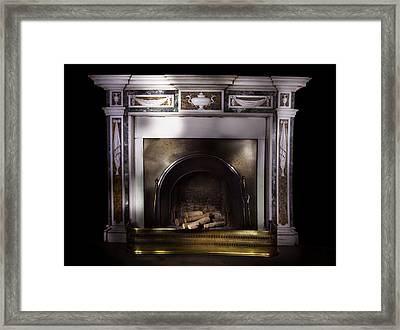 Antique Fireplace Paxton House Framed Print