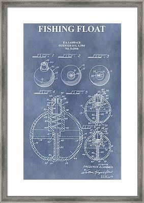 Antique Fishing Bobber Patent Framed Print