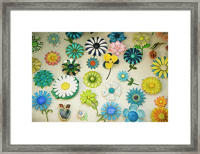 Antique Flower Pins, Palm Springs Framed Print by Julien Mcroberts