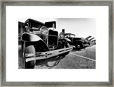 Antique Ford Car At Car Show Framed Print