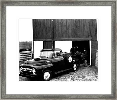 Antique Ford Truck Framed Print by Retro Images Archive