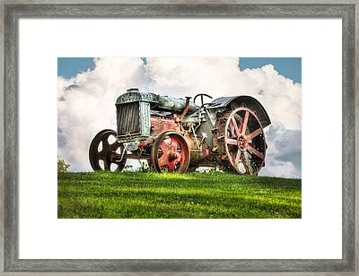 Antique Fordson Tractor - Americana Framed Print