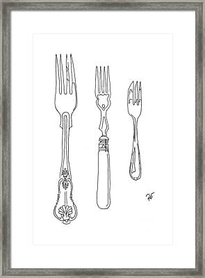 Antique Fork Trio Framed Print