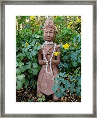 Antique Garden Goddess Framed Print by Eileen Lighthawk