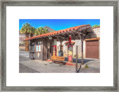Antique Gas Station Framed Print by Heidi Smith