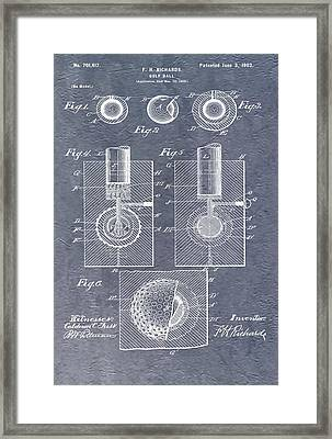 Antique Golf Ball Patent Framed Print by Dan Sproul