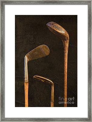 Antique Golf Clubs Framed Print