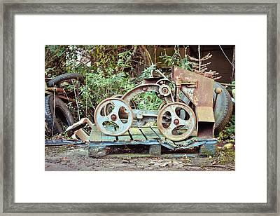 Antique Grain Barrow Framed Print
