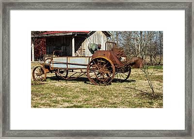 Antique Hay Bailer 1 Framed Print by Douglas Barnett