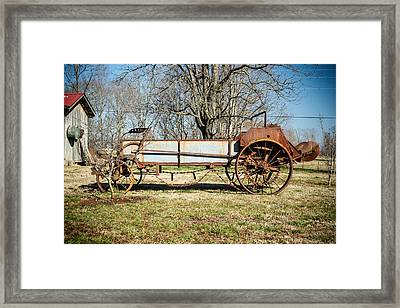 Antique Hay Bailer 3 Framed Print by Douglas Barnett