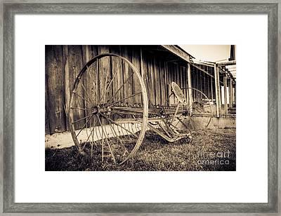 Antique Hay Rake Framed Print by Lucid Mood