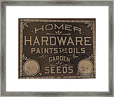 Antique Homer Hardware Framed Print