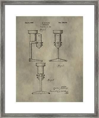 Antique Homogenizer Patent Framed Print