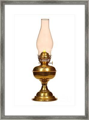 Antique Hurricane Lamp Framed Print