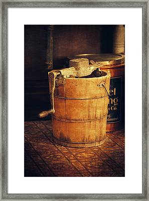 Antique Ice Cream Maker Framed Print by Maria Angelica Maira