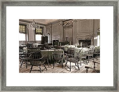 Antique Independence Hall Framed Print by Olivier Le Queinec