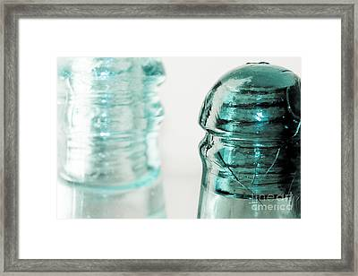 Antique Insulators Framed Print