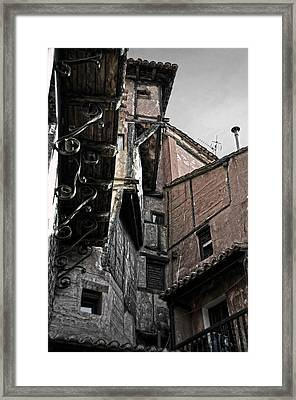 Antique Ironwork Wood And Rustic Walls Framed Print