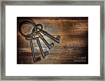 Antique Keys Framed Print by Olivier Le Queinec