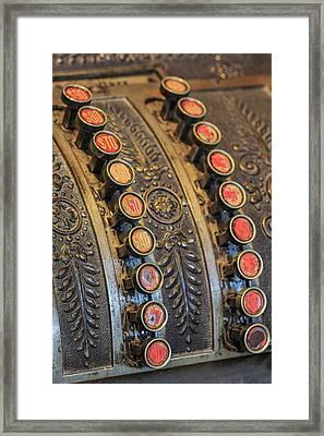 Antique Keys On Cash Register, Harrison Framed Print