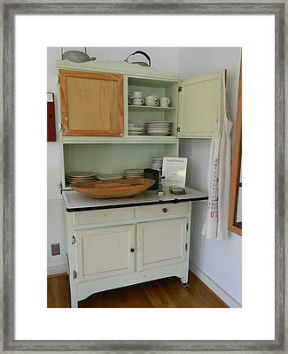 Antique Kitchen Cabinet Framed Print by George Pedro
