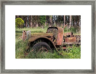 Antique Kleiber Flatbed Dually Framed Print