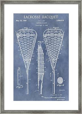 Antique Lacrosse Racquet Patent Framed Print by Dan Sproul