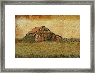 Antique Little Barn Framed Print by Susan Crossman Buscho