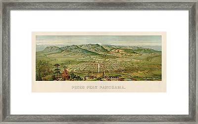 Antique Map Of Colorado Springs By H. Wellge - 1890 Framed Print