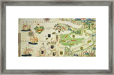 Antique Map Of Europe Framed Print