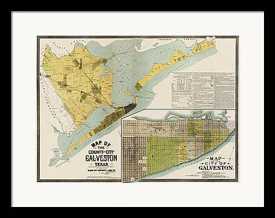 Galveston Framed Prints