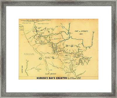 Antique Map Of Hudson Bay Country 1785 Framed Print