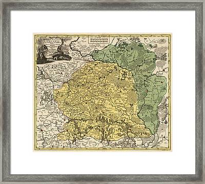 Antique Map Of Lithuania And Belarus By Tobias Conrad Lotter - Circa 1770 Framed Print by Blue Monocle